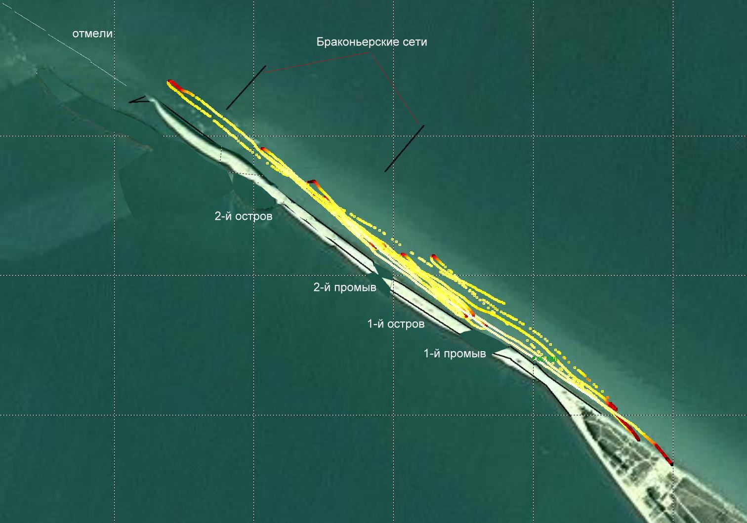 22 мая - исследование должанских островов при помощи GPS-трека
